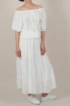 Molly Bracken Flowy White Skirt - Product List Image