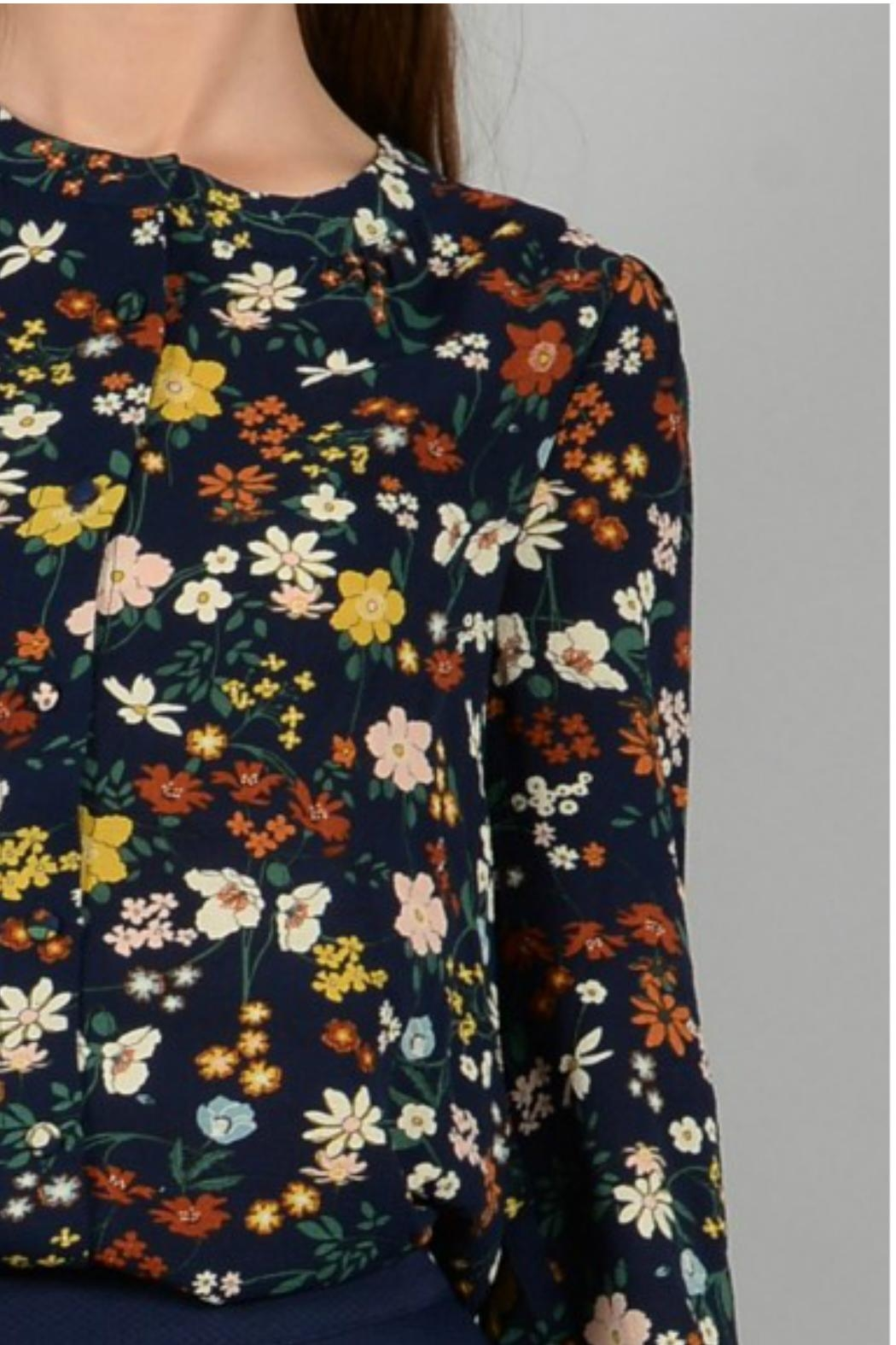 Molly Bracken Folk Print Blouse - Back Cropped Image