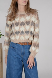 Molly Bracken Heart Pattern Jumper - Product Mini Image