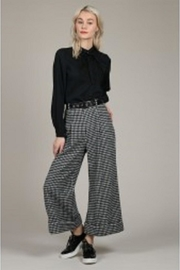 Molly Bracken Houndstooth Wide-Legged Pants - Product Mini Image