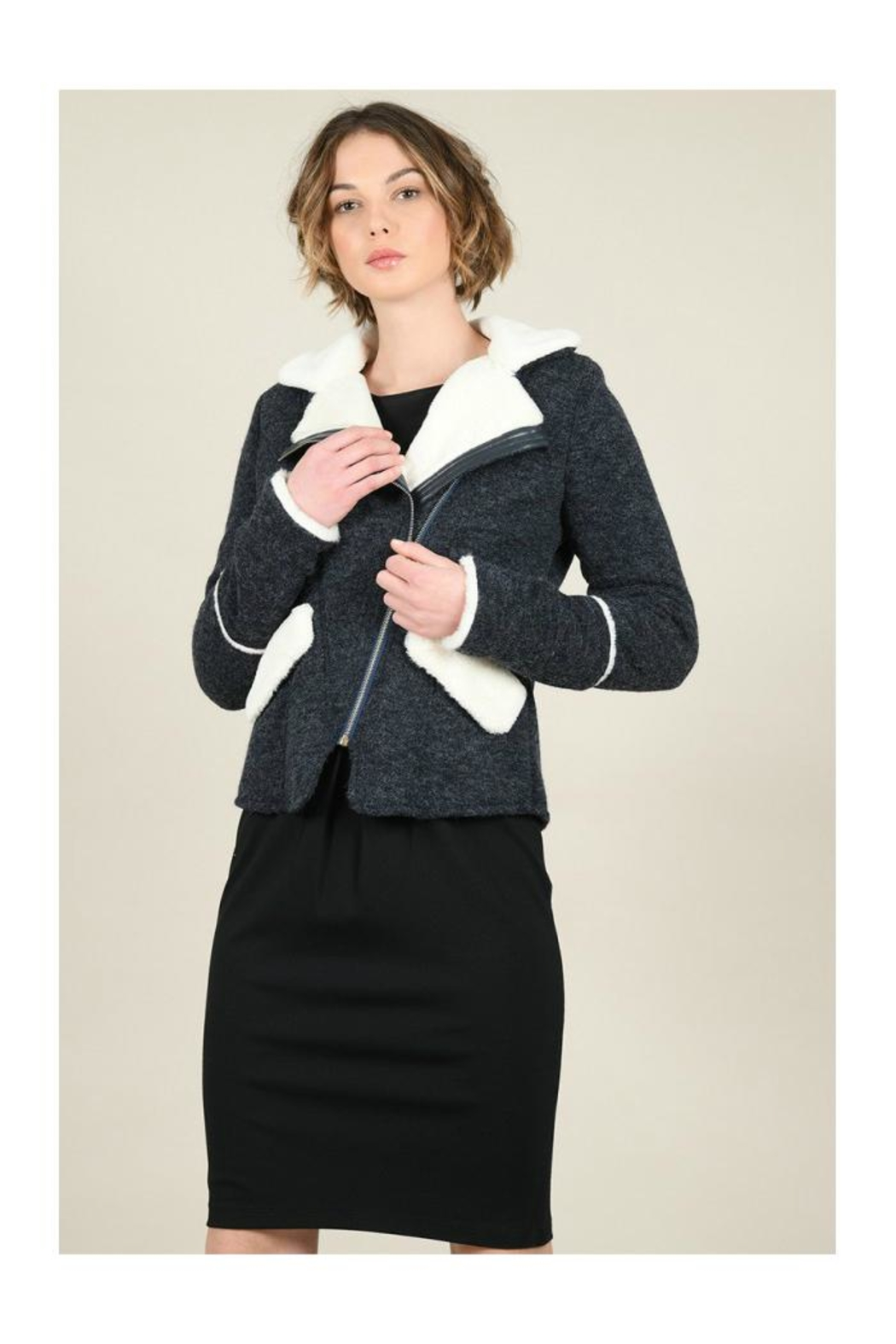 Molly Bracken Knitted Cozy Jacket - Front Full Image