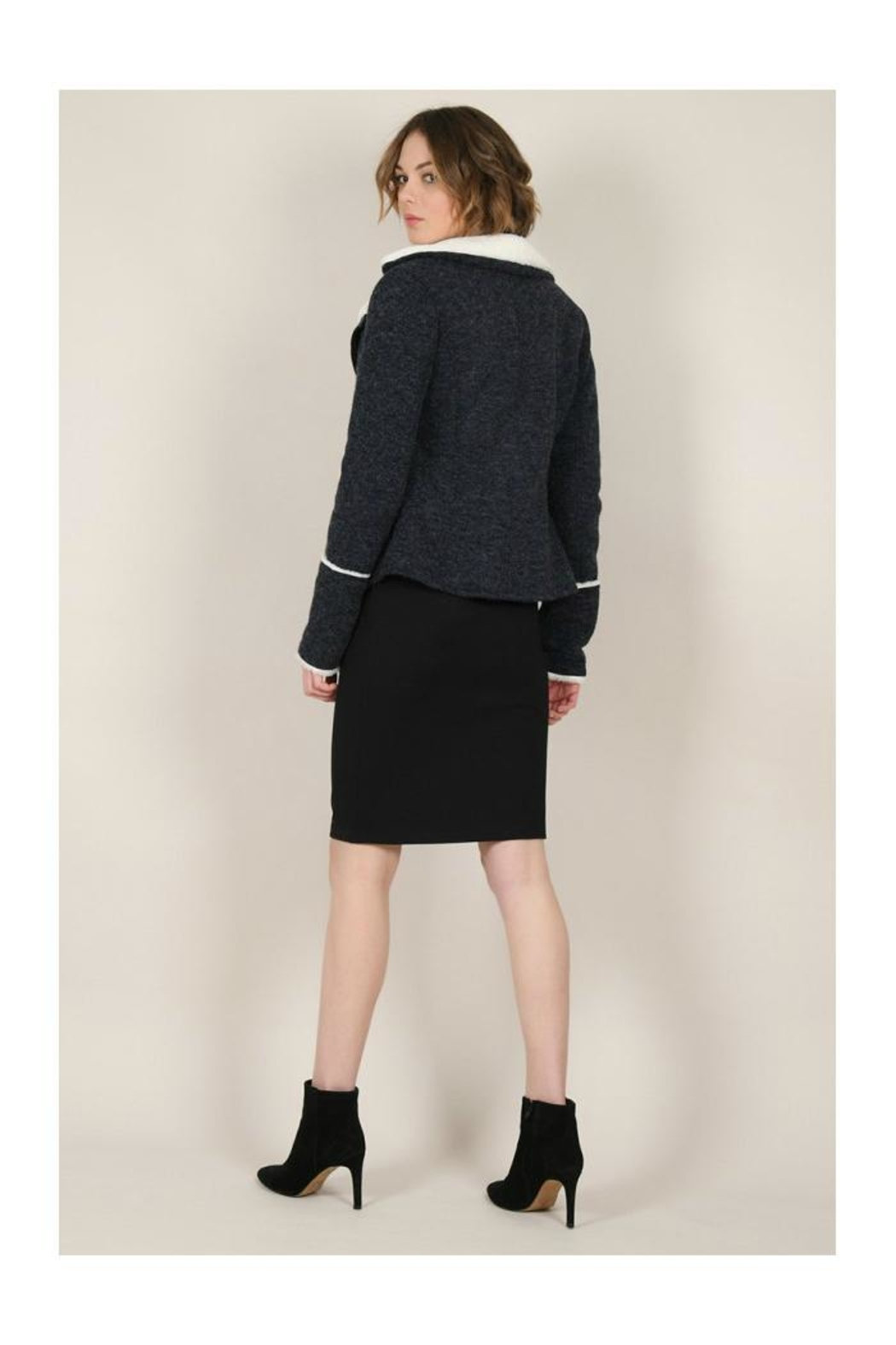 Molly Bracken Knitted Cozy Jacket - Back Cropped Image