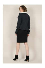 Molly Bracken Knitted Cozy Jacket - Back cropped