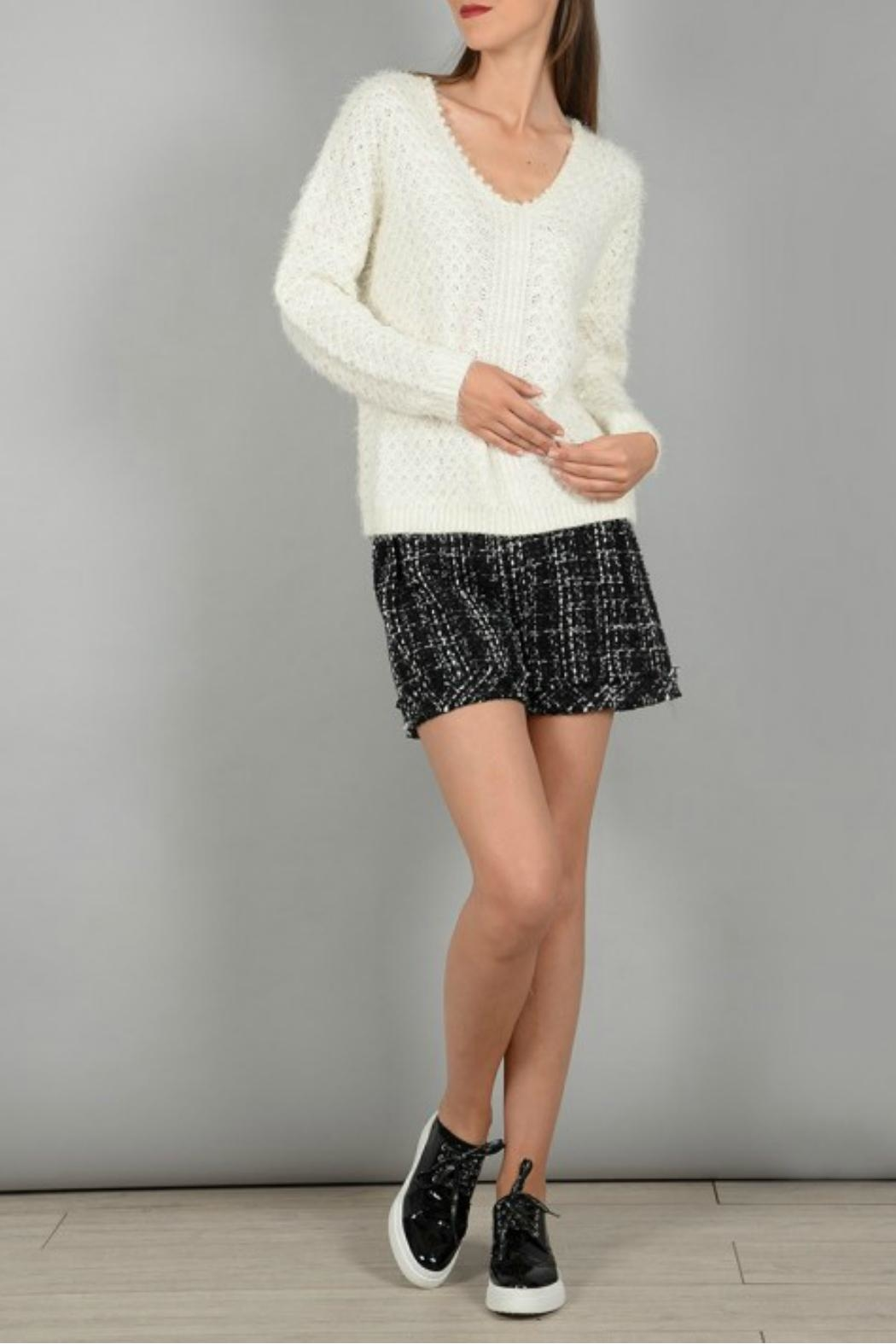 Molly Bracken Knitted Pullover Sweater - Front Full Image