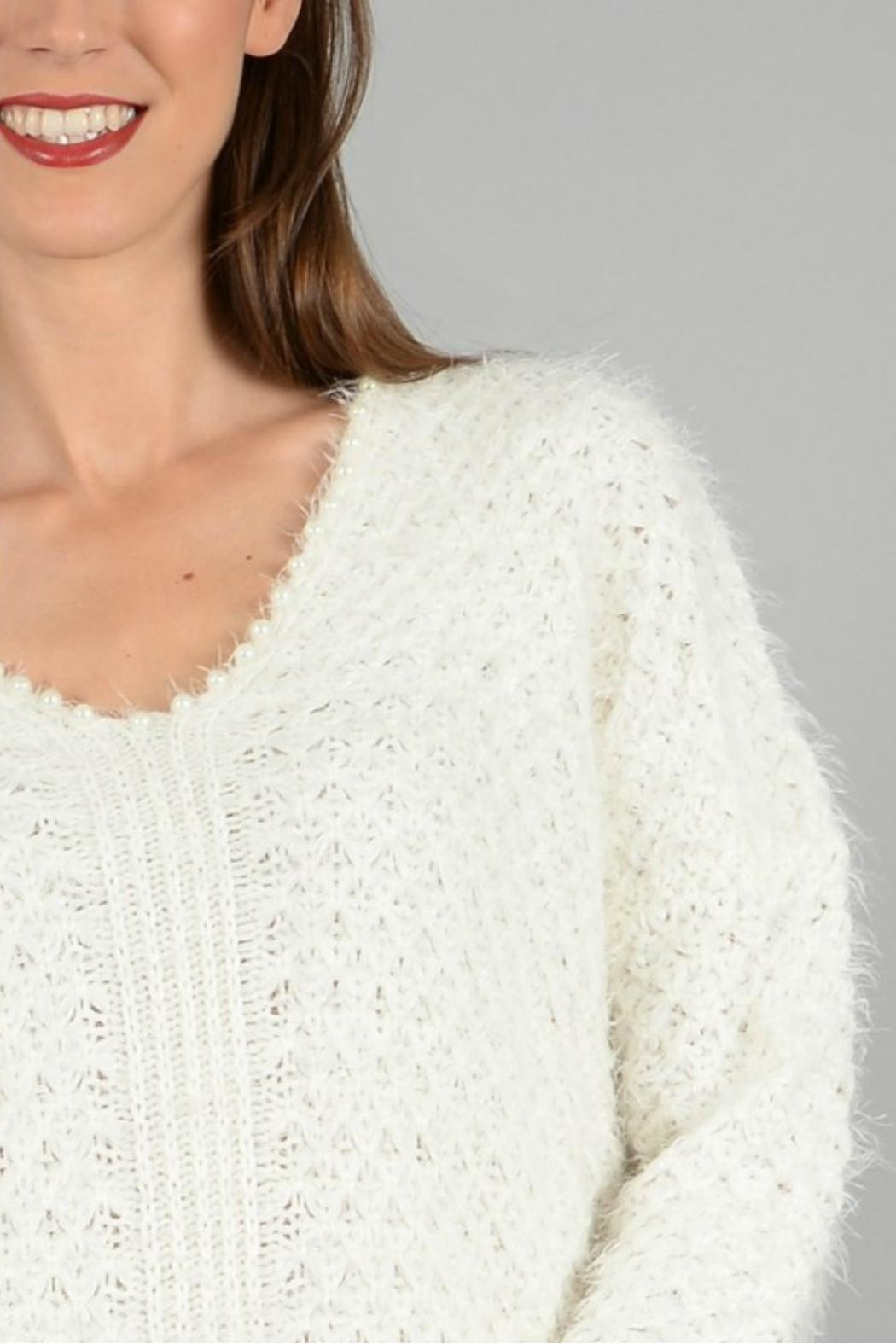Molly Bracken Knitted Pullover Sweater - Back Cropped Image