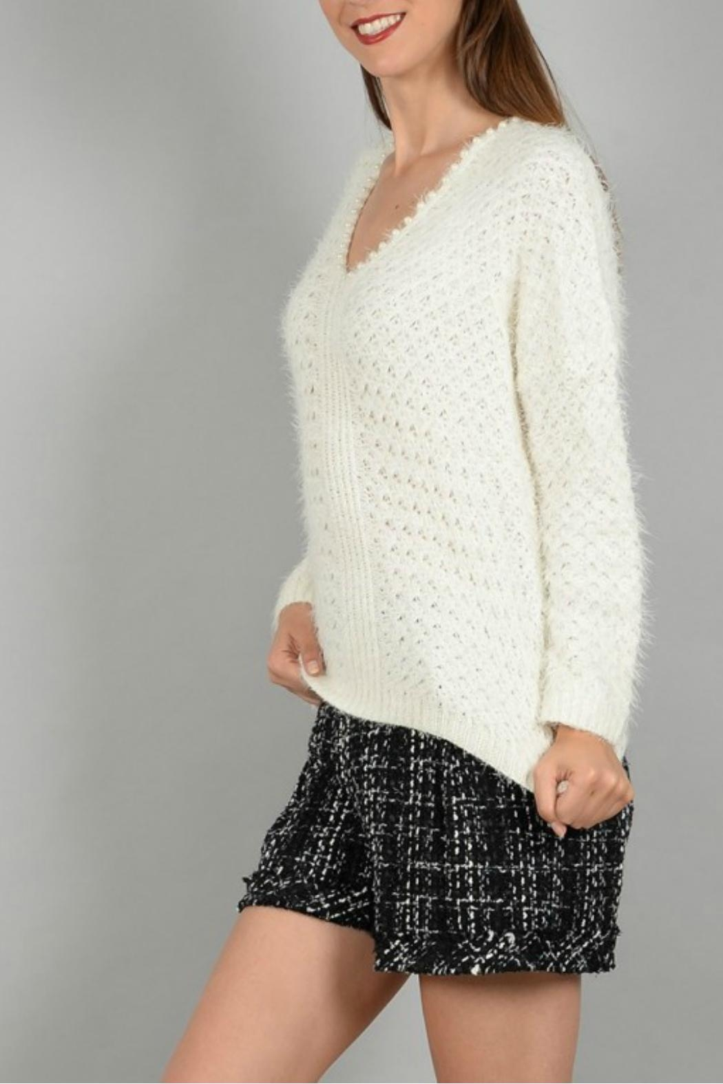 Molly Bracken Knitted Pullover Sweater - Side Cropped Image
