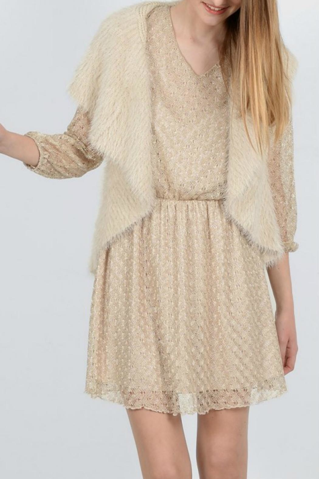 Molly Bracken Knitted Sleeveless Cardigan - Main Image