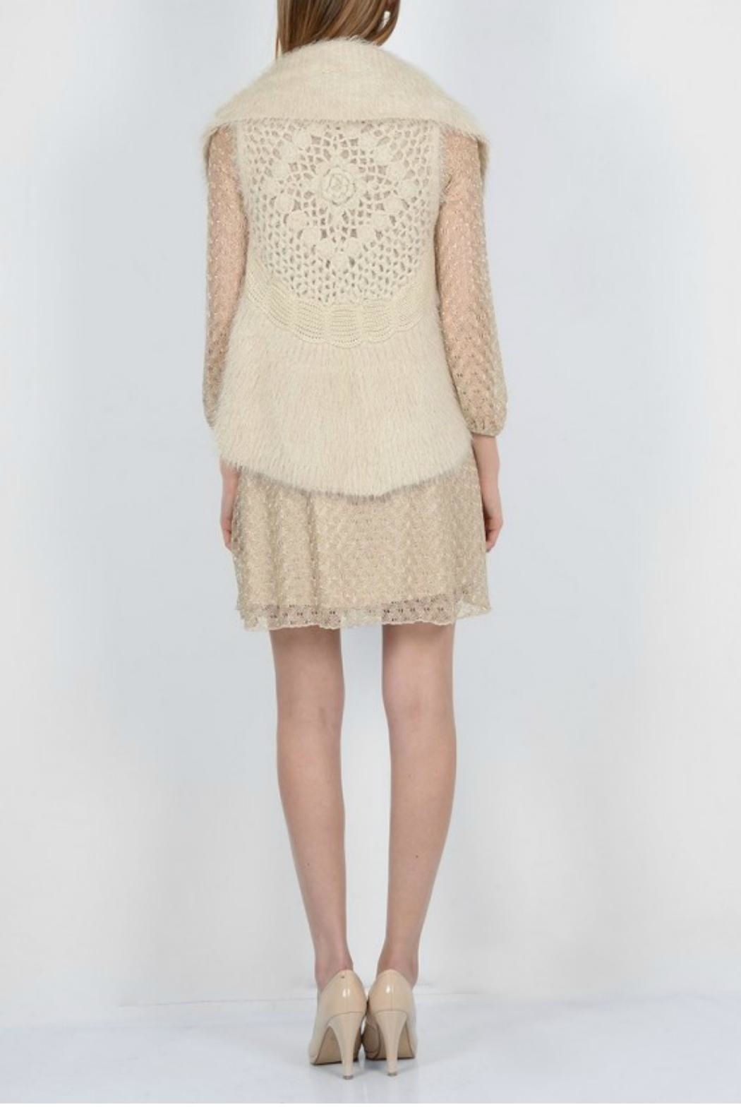 Molly Bracken Knitted Sleeveless Cardigan - Side Cropped Image