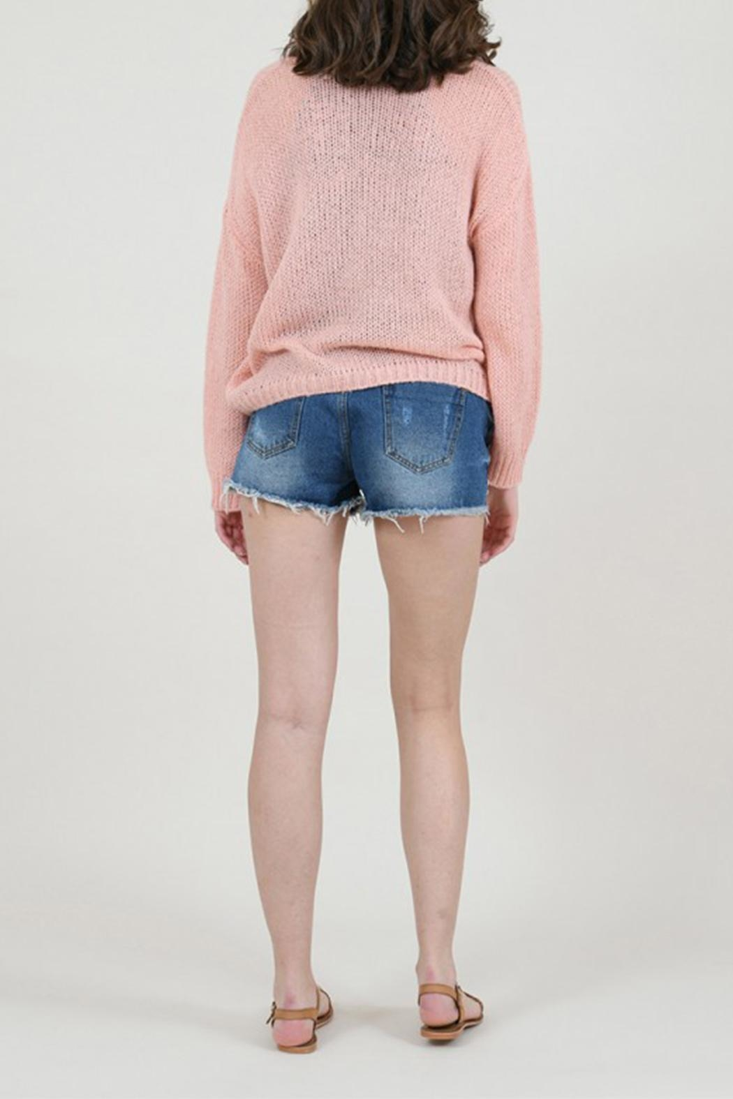 Molly Bracken Knitted V-Neck Sweater - Side Cropped Image