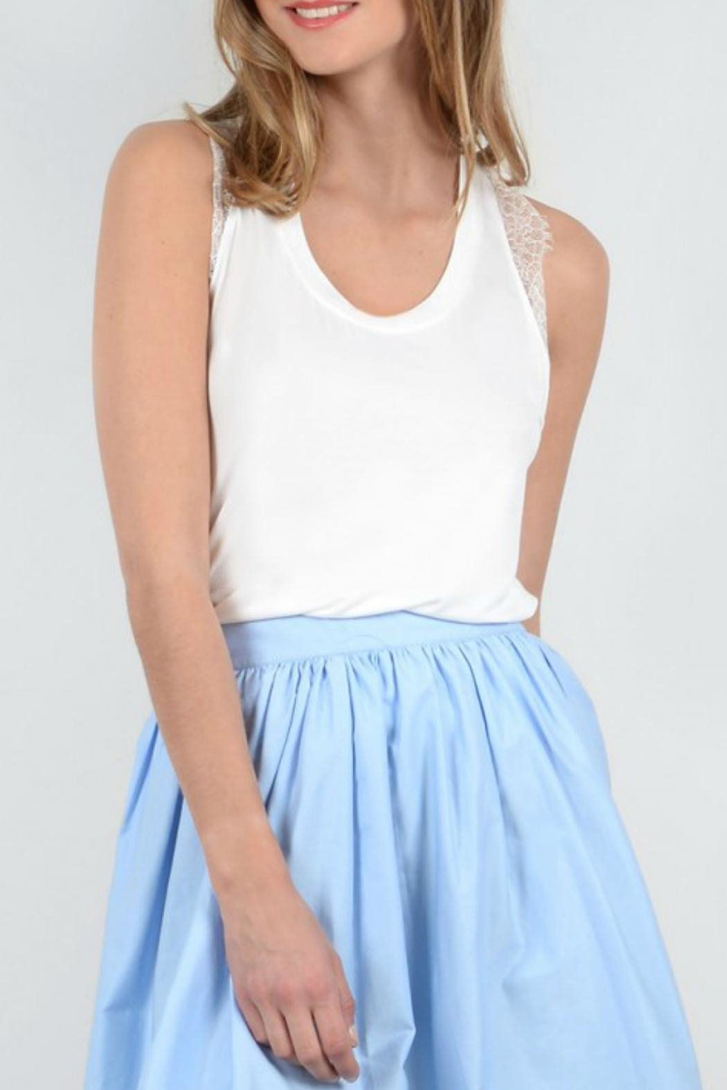 Molly Bracken Lace Back Tank - Front Cropped Image