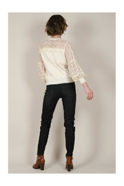 Molly Bracken Lace Sleeves Sweater - Back cropped