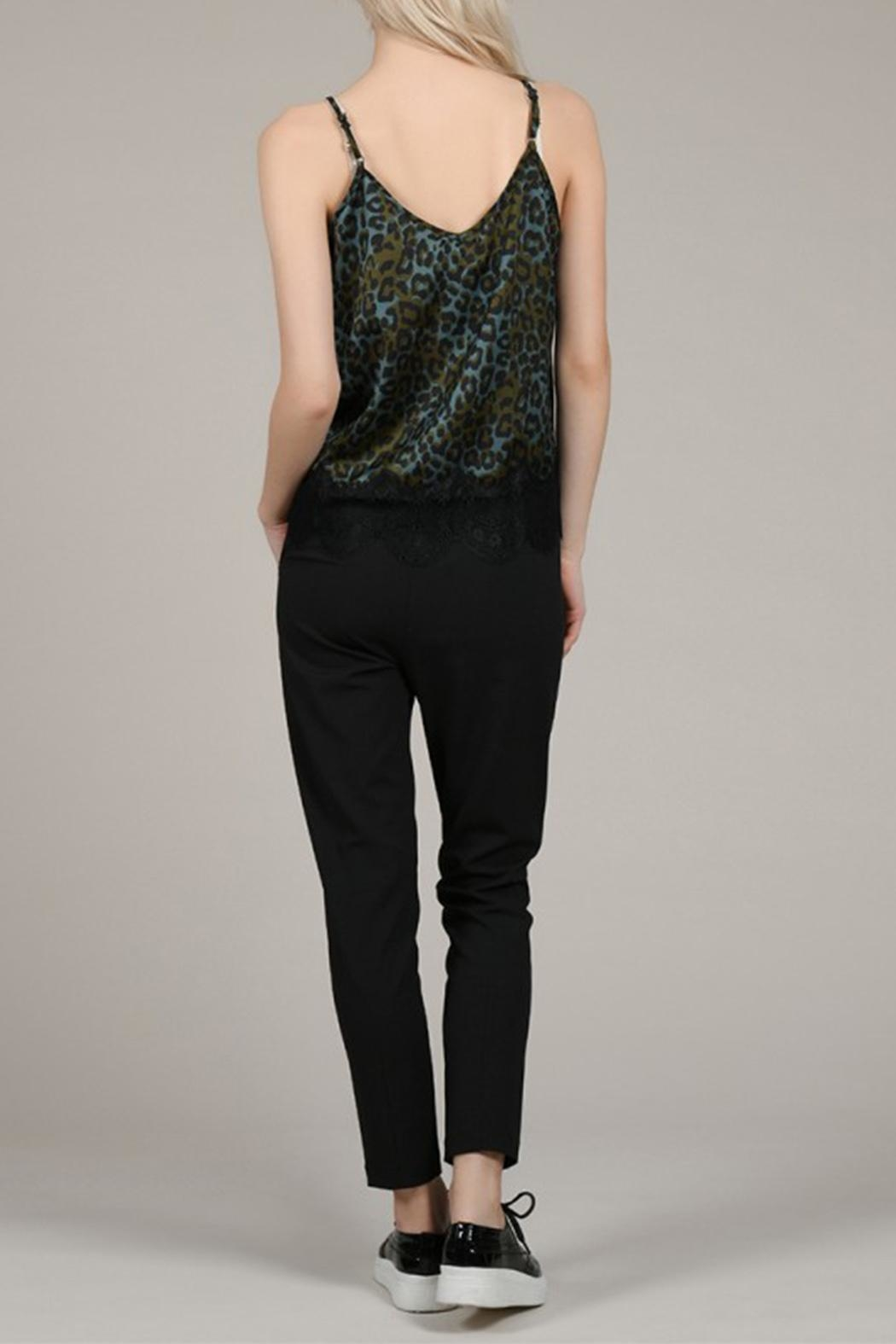 Molly Bracken Leopard Print Camisole - Back Cropped Image