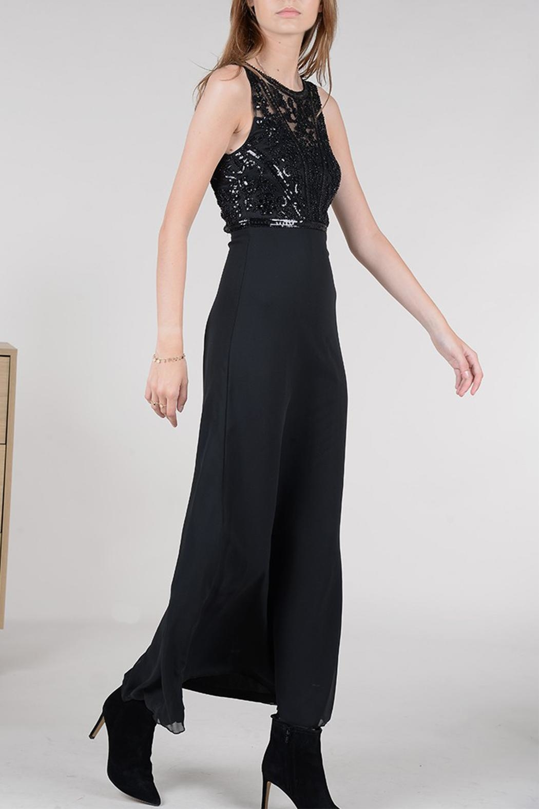 Molly Bracken Long Cocktail Dress - Side Cropped Image
