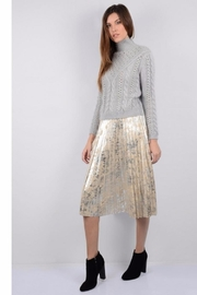 Molly Bracken Metallic Pleated Skirt - Product Mini Image