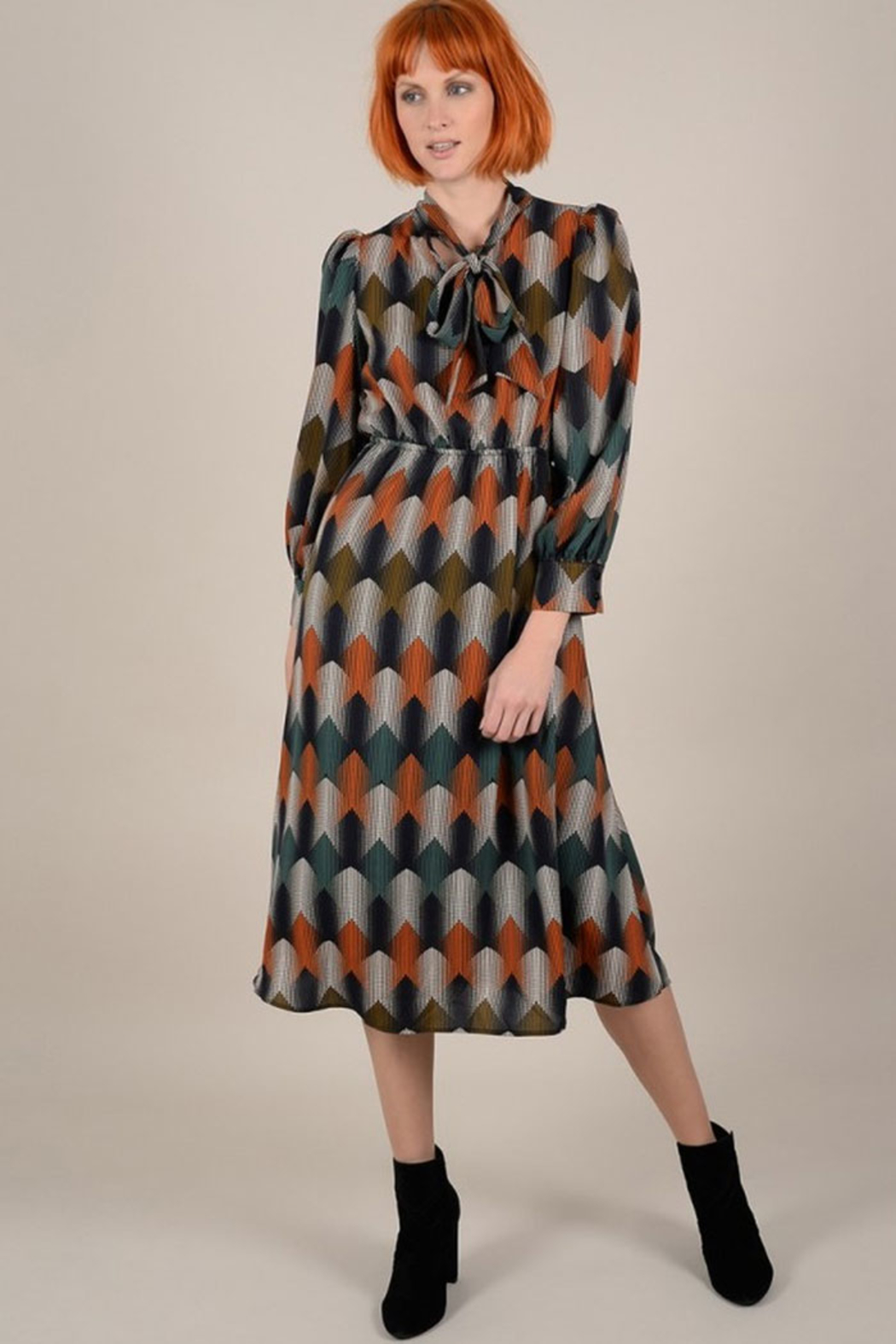 Molly Bracken Geo Spot Dress - Main Image