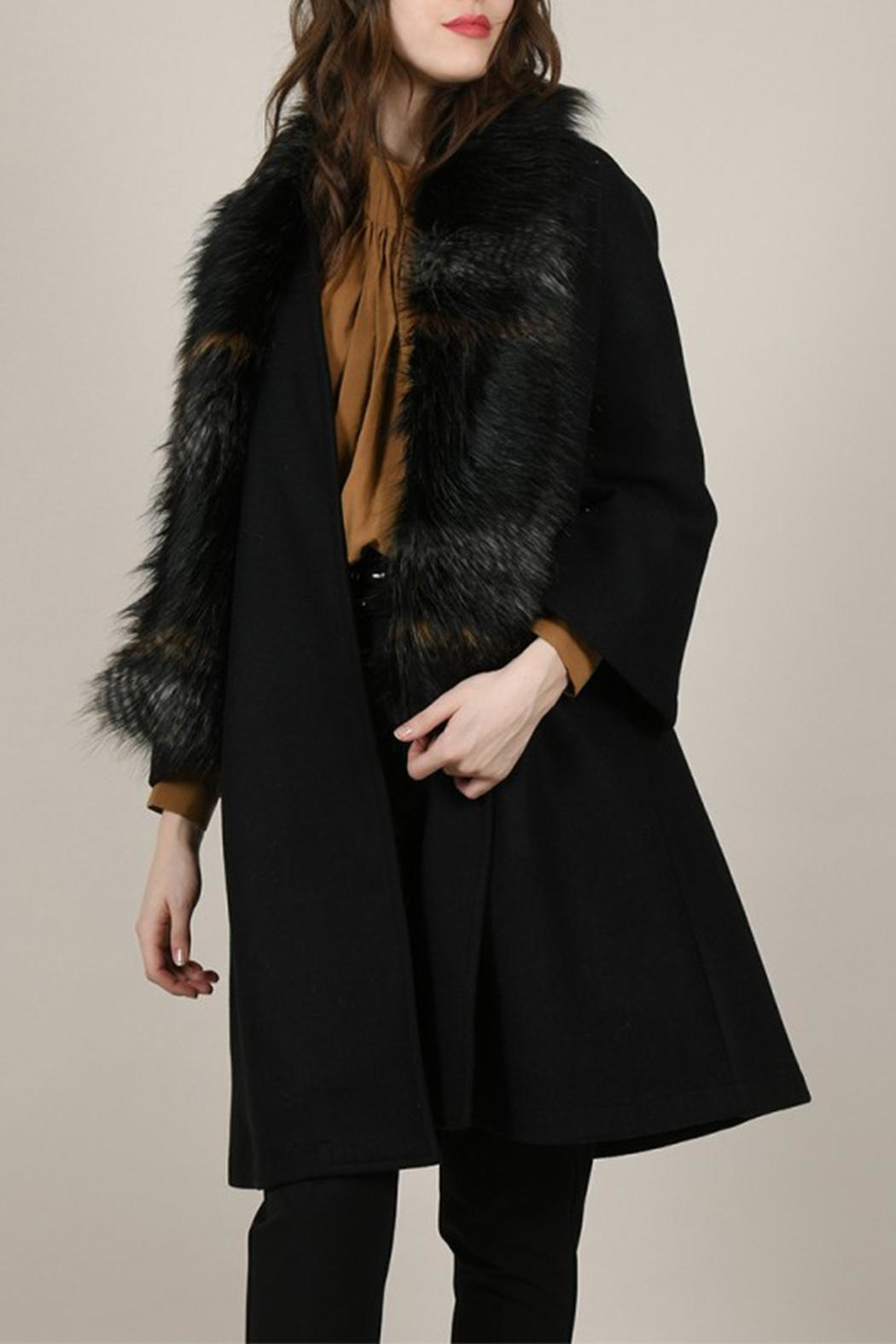 Molly Bracken Overlay Coat - Back Cropped Image