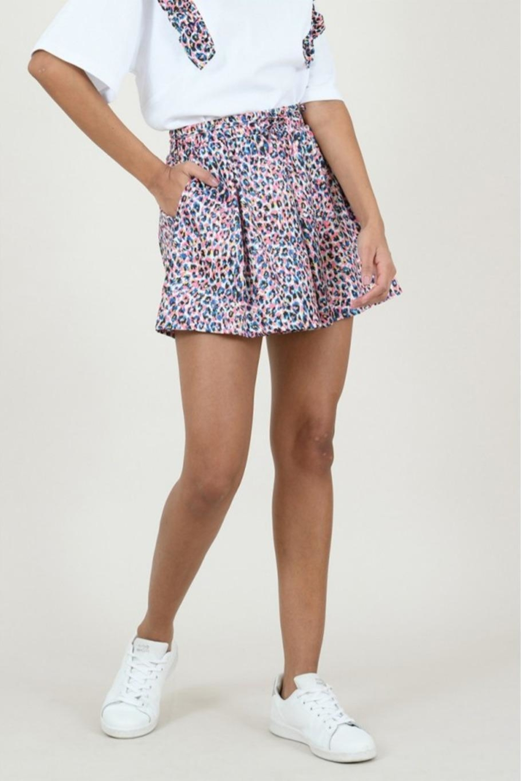 Molly Bracken Panther Print Short - Back Cropped Image