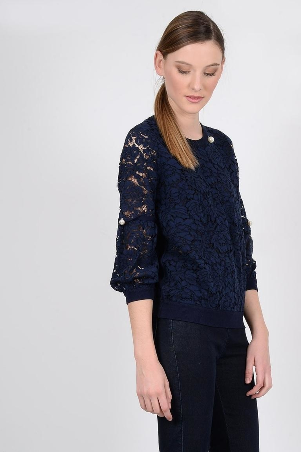 Molly Bracken Peal Lace Top - Front Full Image