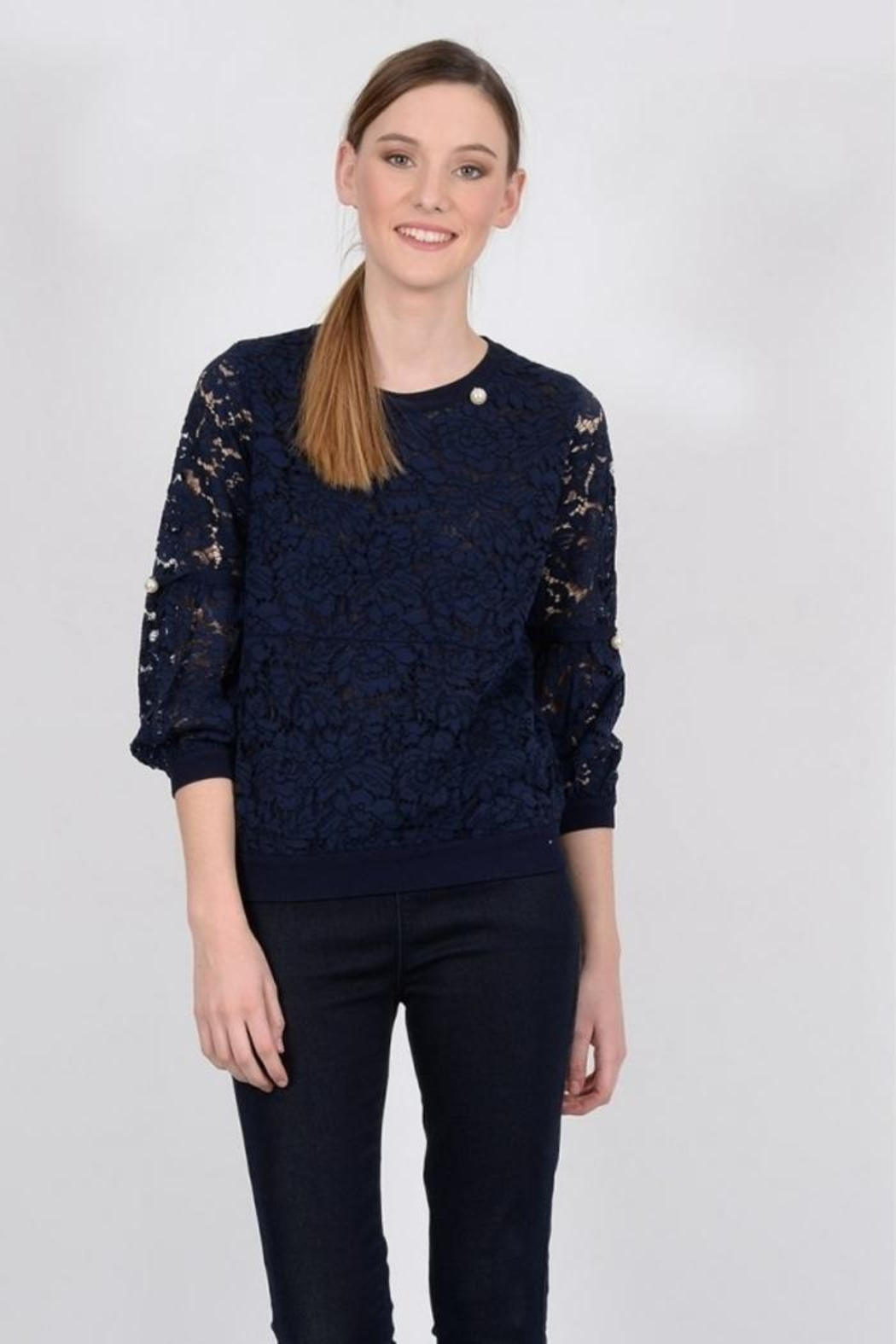 Molly Bracken Peal Lace Top - Main Image