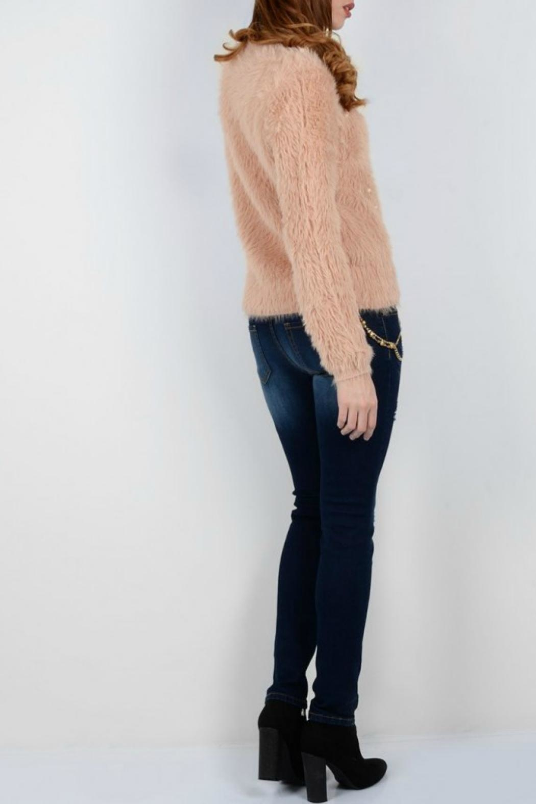 Molly Bracken Pearl Detailed  Sweater - Front Full Image