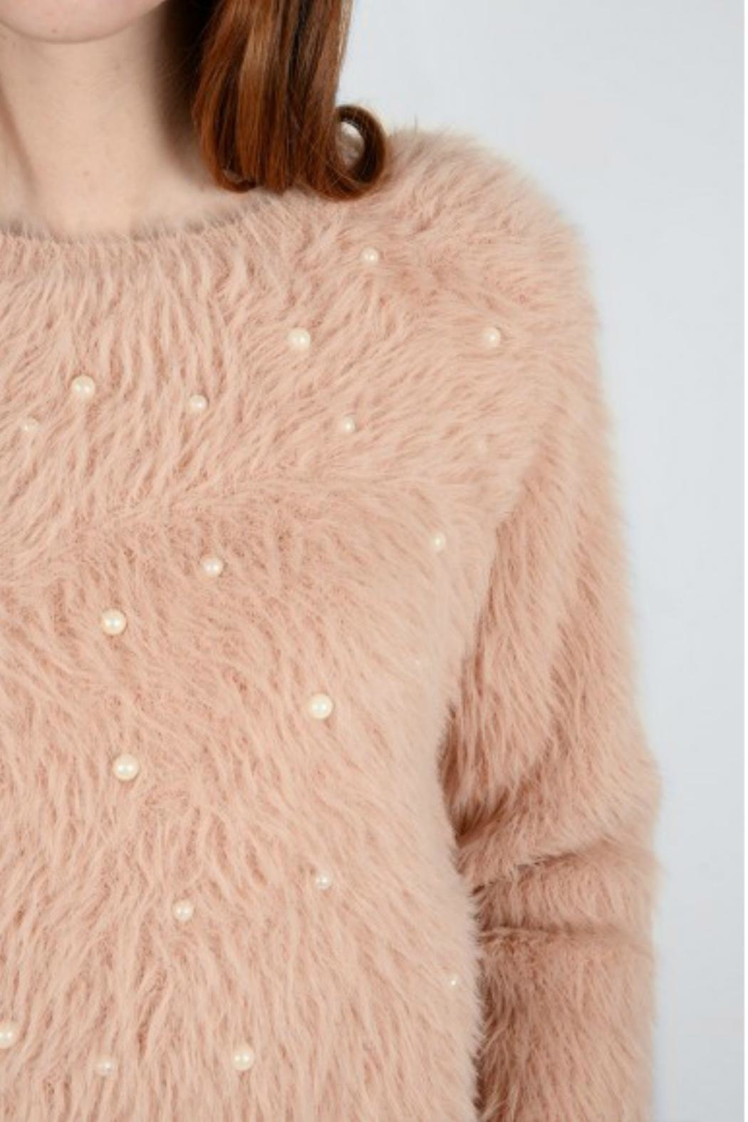 Molly Bracken Pearl Detailed  Sweater - Side Cropped Image