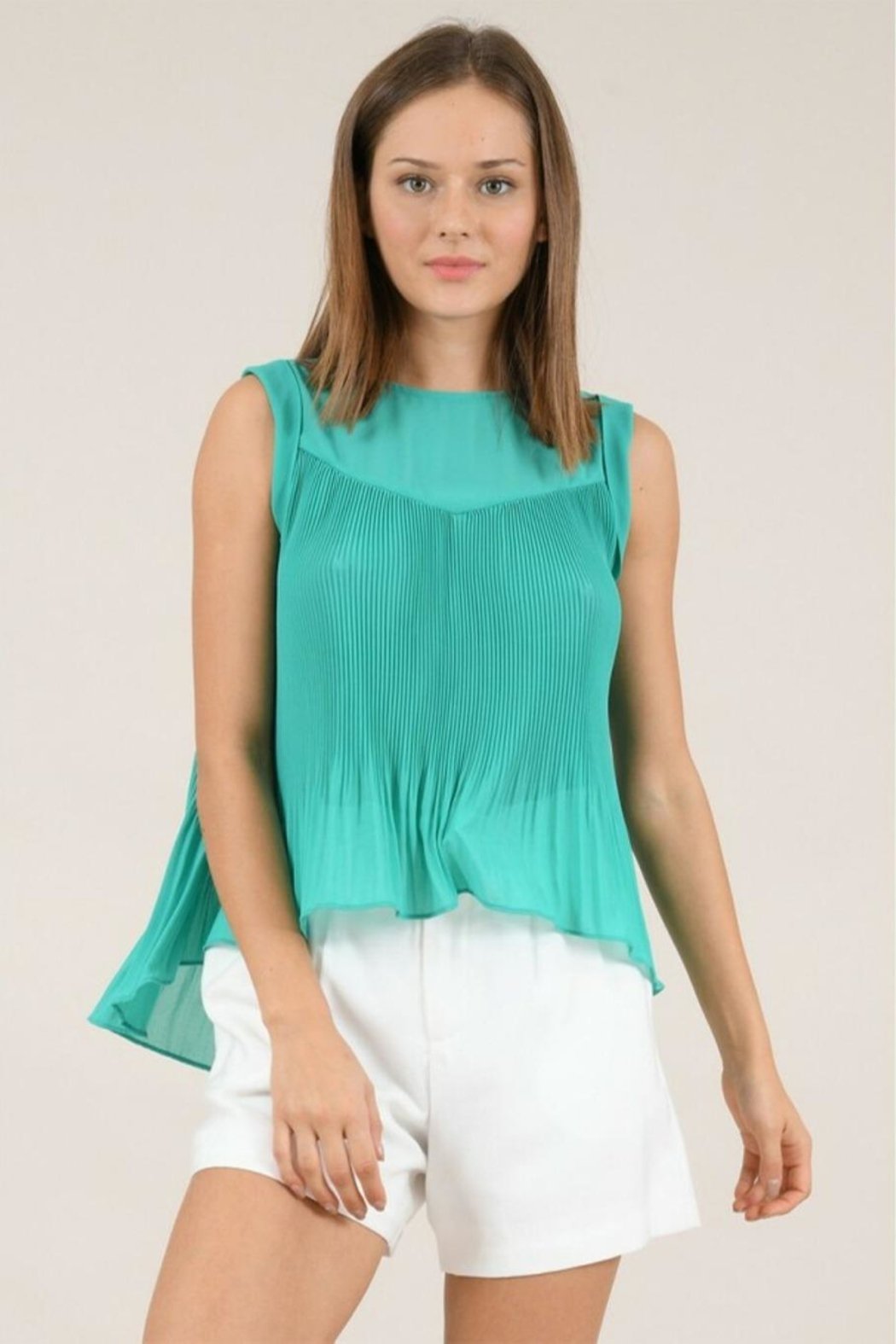 Molly Bracken Pleated Flared Top - Main Image