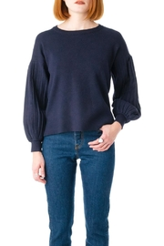Molly Bracken Pleated Sleeve Sweater - Product Mini Image