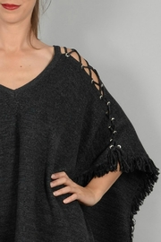 Molly Bracken Poncho With Lacing - Back cropped