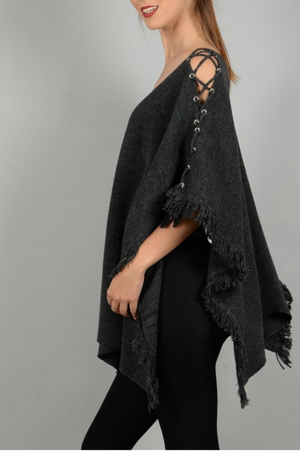 Molly Bracken Poncho With Lacing - Side Cropped Image