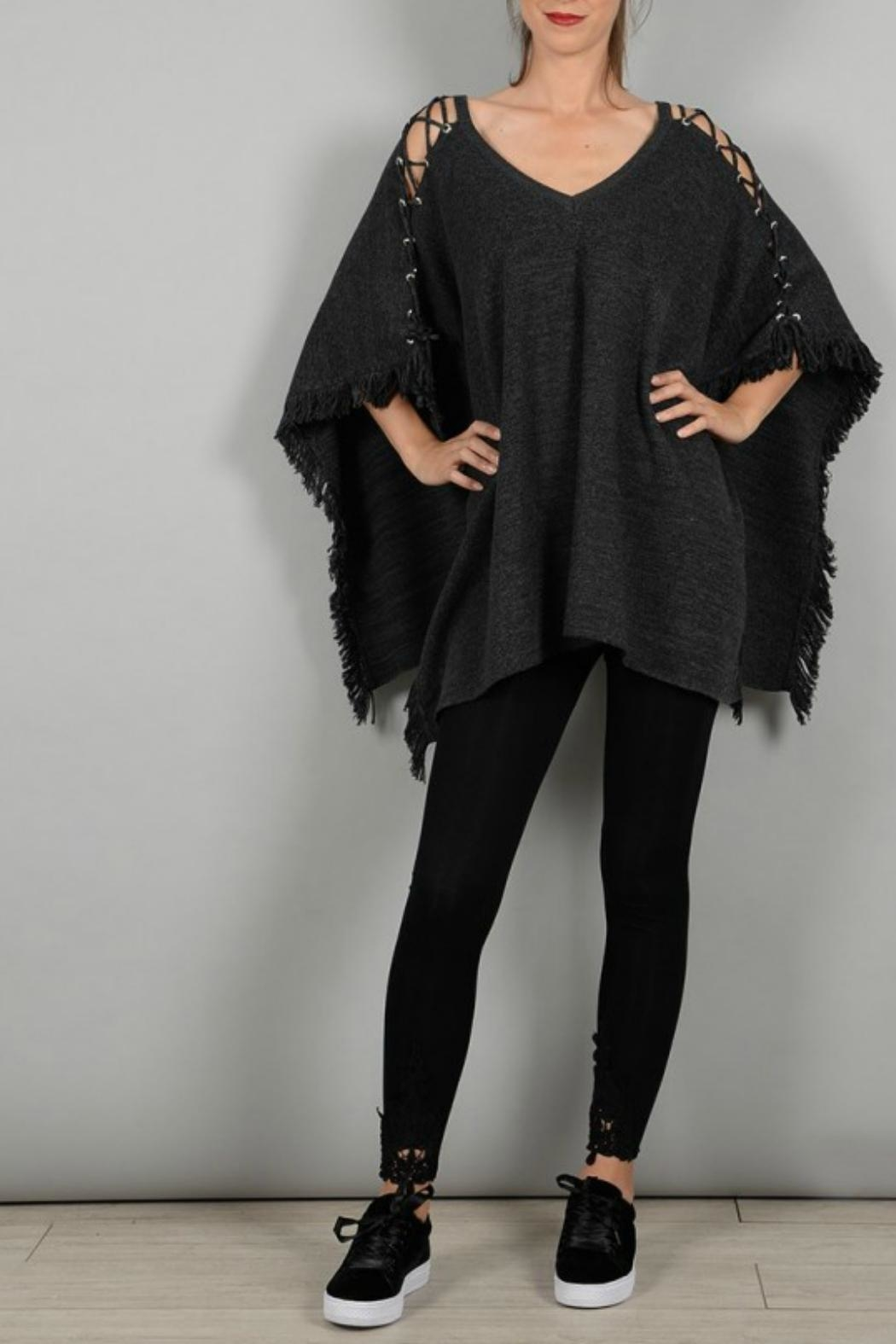 Molly Bracken Poncho With Lacing - Main Image