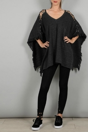Molly Bracken Poncho With Lacing - Front cropped