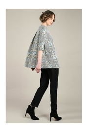 Molly Bracken Printed Flare Coat - Back cropped