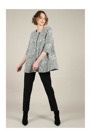 Molly Bracken Printed Flare Coat - Front cropped