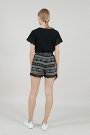 Molly Bracken Printed Lace Shorts - Side cropped