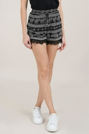 Molly Bracken Printed Lace Shorts - Front cropped