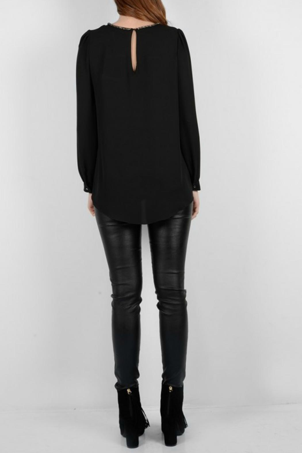 Molly Bracken Pullover Dressy Blouse - Back Cropped Image