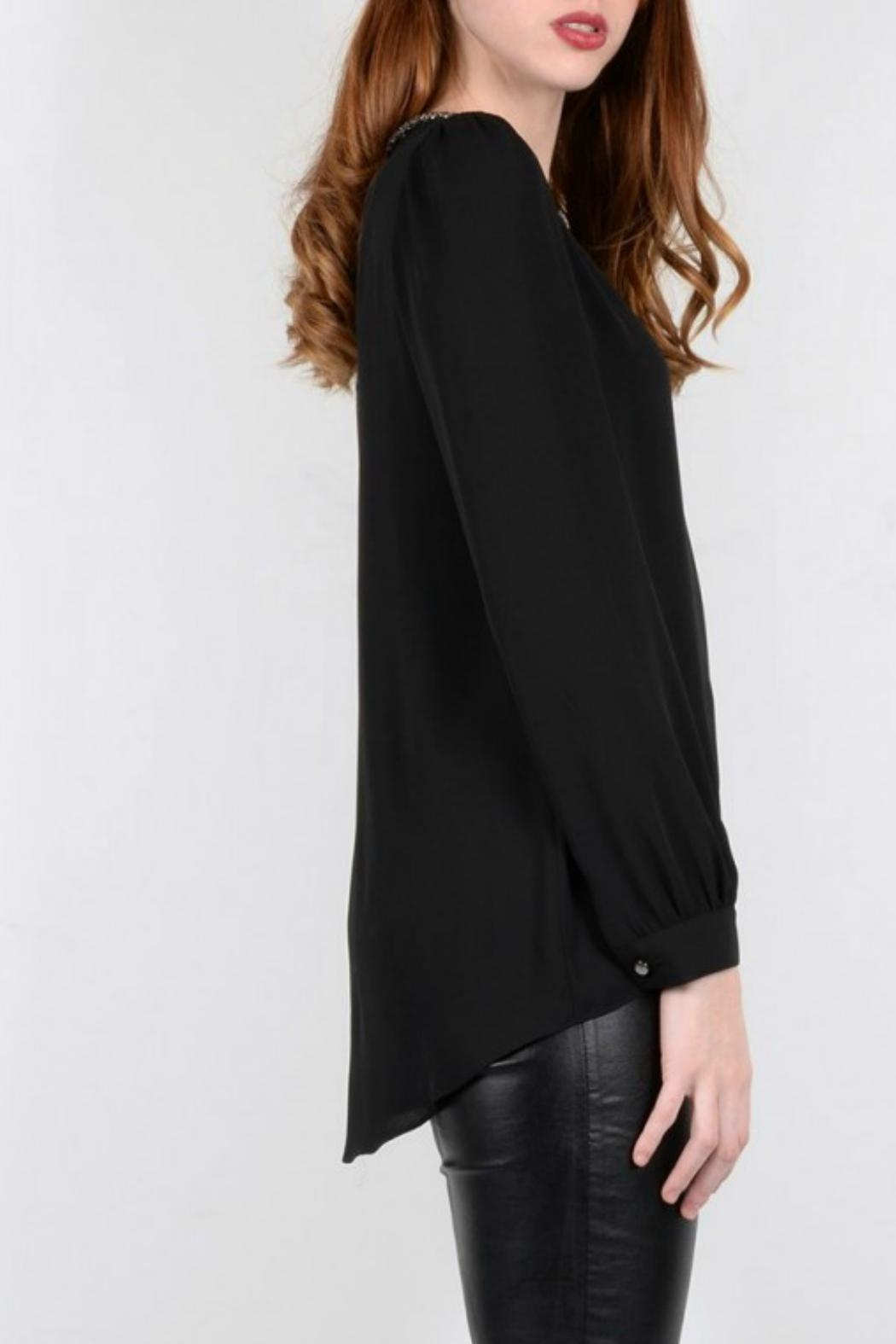 Molly Bracken Pullover Dressy Blouse - Side Cropped Image
