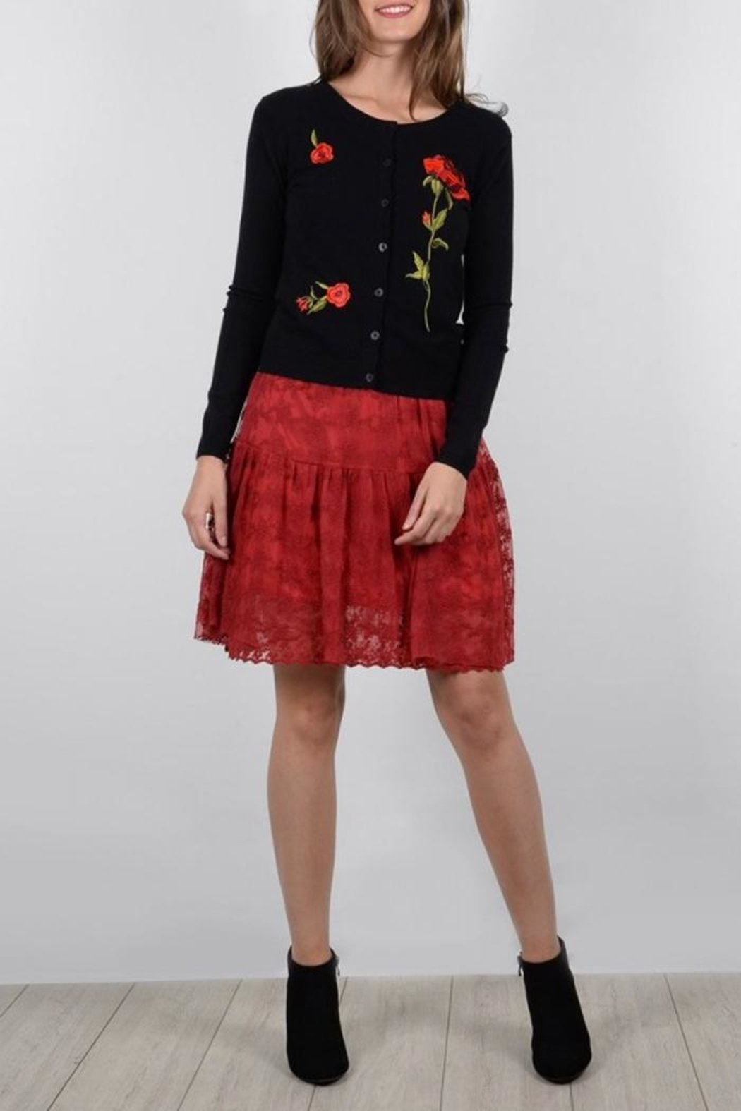 Molly Bracken Rose Embroidered Cardigan - Main Image