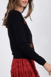 Molly Bracken Rose Embroidered Cardigan - Side cropped
