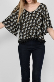 Molly Bracken Scoop Neck Blouse - Front cropped
