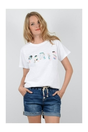 Molly Bracken Sequin Paris Tee - Product Mini Image