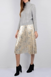 Molly Bracken Silver Suede Skirt - Product Mini Image