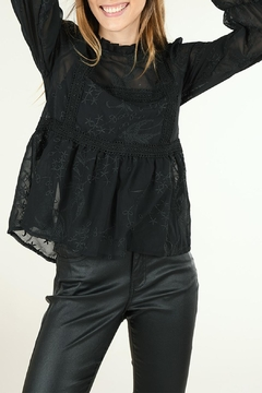 Molly Bracken Stand-Collar Lace Blouse - Alternate List Image