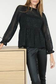 Molly Bracken Stand-Collar Lace Blouse - Product Mini Image