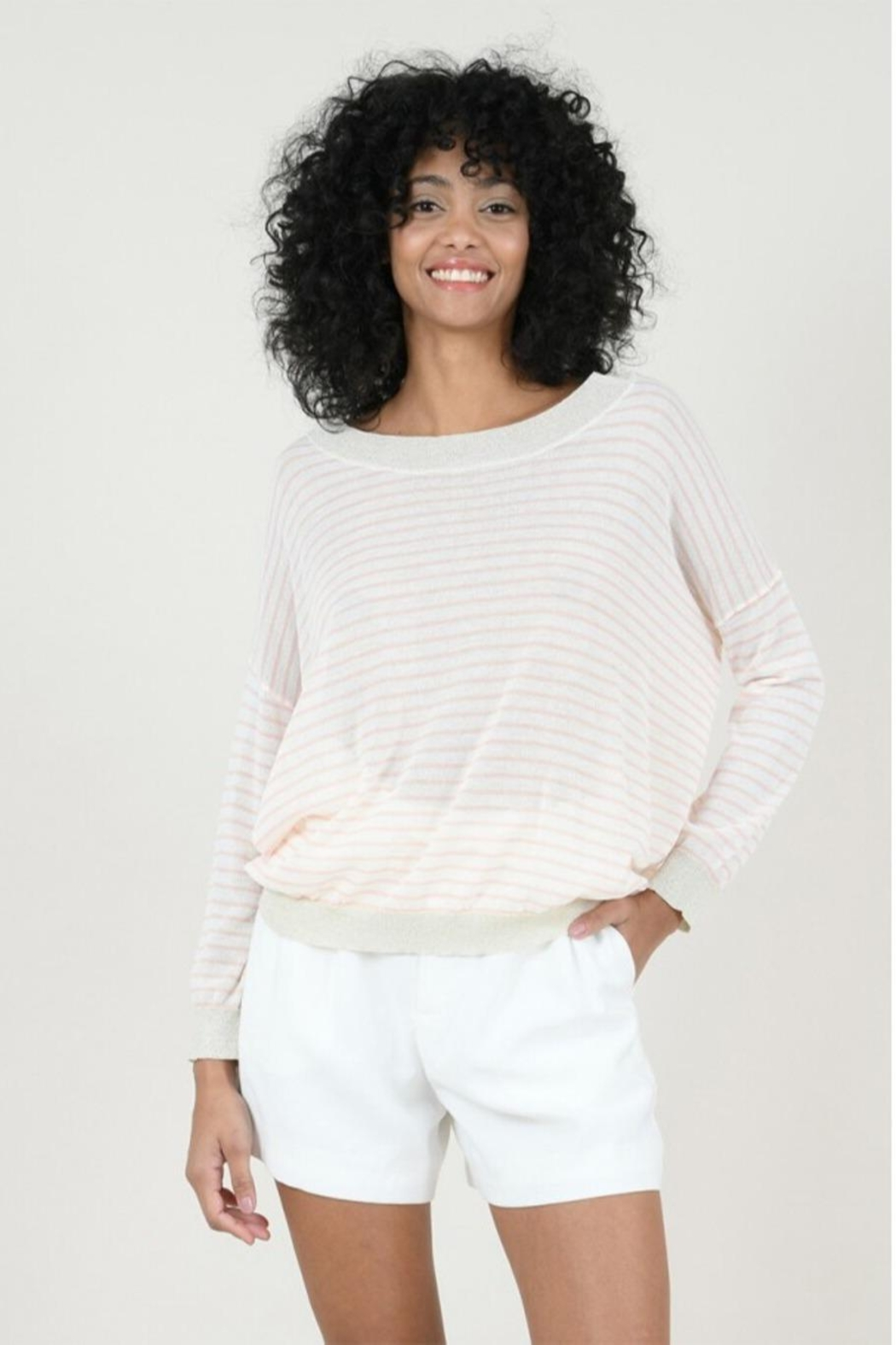 Molly Bracken Striped Fine Sweater - Main Image