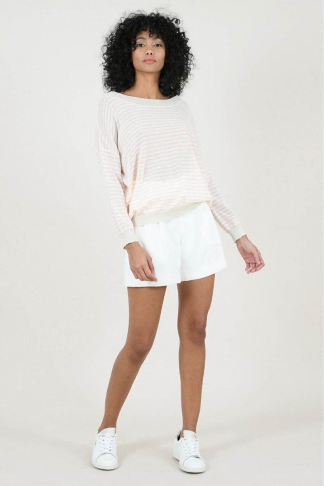 Molly Bracken Striped Fine Sweater - Front Full Image
