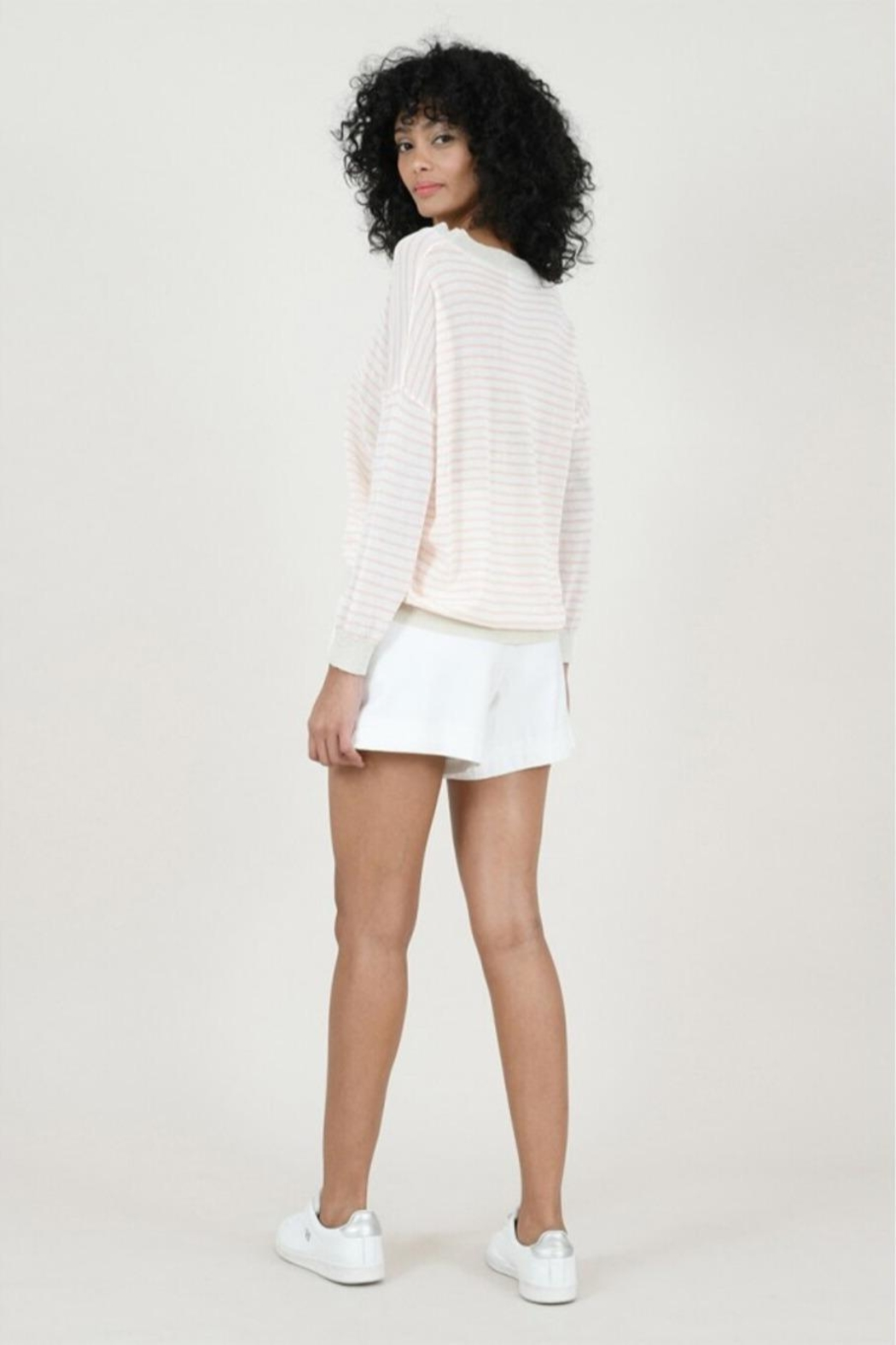 Molly Bracken Striped Fine Sweater - Side Cropped Image