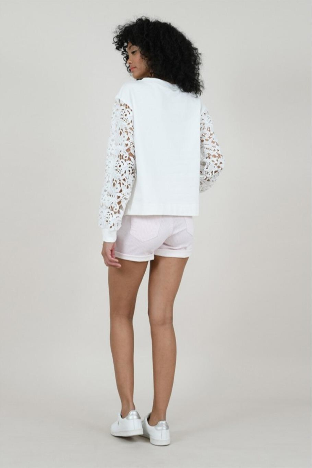 Molly Bracken Striped Shorts - Side Cropped Image