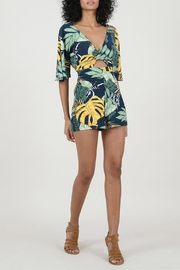 Molly Bracken Tropical Print Romper - Front full body