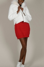 Molly Bracken White Puffer With Fur Trim - Side cropped